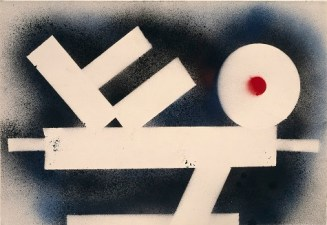 "David Smith, ""Untitled,"" 1962, spray paint on paper, Dallas Museum of Art, Contemporary Art Fund, General Acquisitions,1986.58"