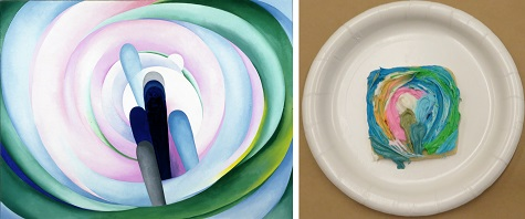 "Georgia O'Keeffe, ""Grey Blue & Black—Pink Circle,"" 1929, oil on canvas, Dallas Museum of Art, gift of The Georgia O'Keeffe Foundation, 1994.54, © The Georgia O'Keeffe Foundation / Artists Rights Society (ARS), New York"