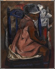 "Rufino Tamayo, ""The Blue Chair,"" 1931, oil on canvas, Dallas Museum of Art, gift of Mrs. Alex Camp, 1965.24, © Estate of the artist in support of Fundacion Olga Y Rufino Tamayo, A.C."