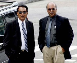Businessmen Ishwar Galbaransingh and Steve Ferguson
