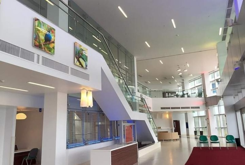 Reception area of the Couva Children's Hospital