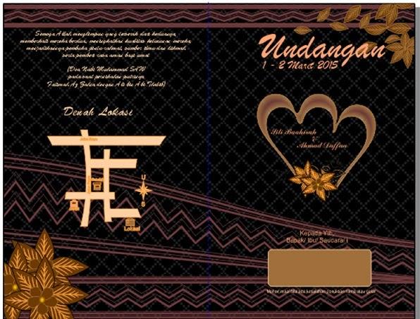 Desain Undangan Batik Hitam Undadown