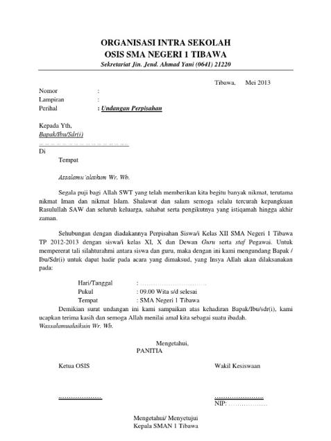 Contoh Surat Resmi Sekolah Smp Osis Rasmi Re