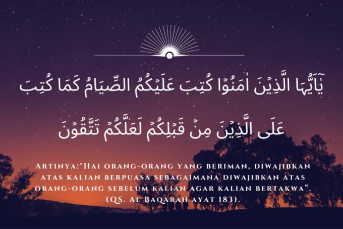 dalil wajib berpuasa ramadhan