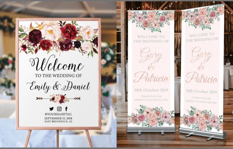cara mudah membuat Desain Banner Wedding