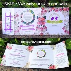 Undangan Bunga Vintage Murah Meriah by Embun Media