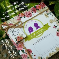 Undangan Softcover Cantik Murah by Embun Media