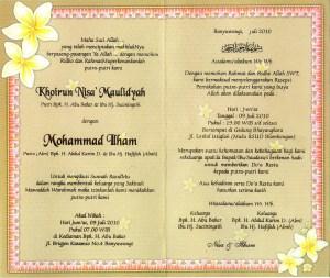Islami Contoh Undangan Pernikahan Remaja Muslim