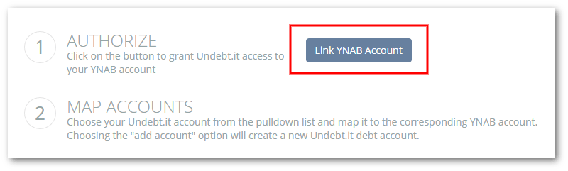 New Undebt it+ Feature: YNAB Account Integration - Undebt it