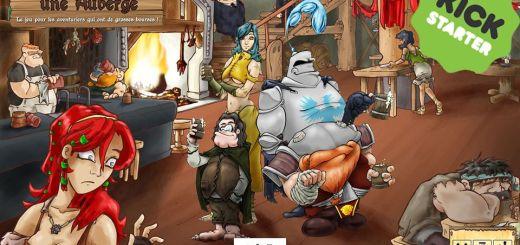 [Kickstarter] : Vous êtes dans une Auberge, un jeu pour les aventuriers qui ont de grosses bourses !