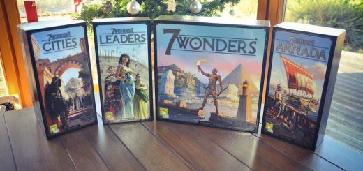 [Test comparatif] 7 Wonders Nouvelle édition et ses 3 extensions Cities, Leaders, Armada VS version 2010