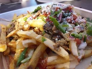 Mexican Poutine: their take on pollo asada fries.