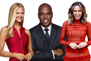 Nancy O'Dell, Kevin Frazier & Keltie Knight of Entertainment Tonight