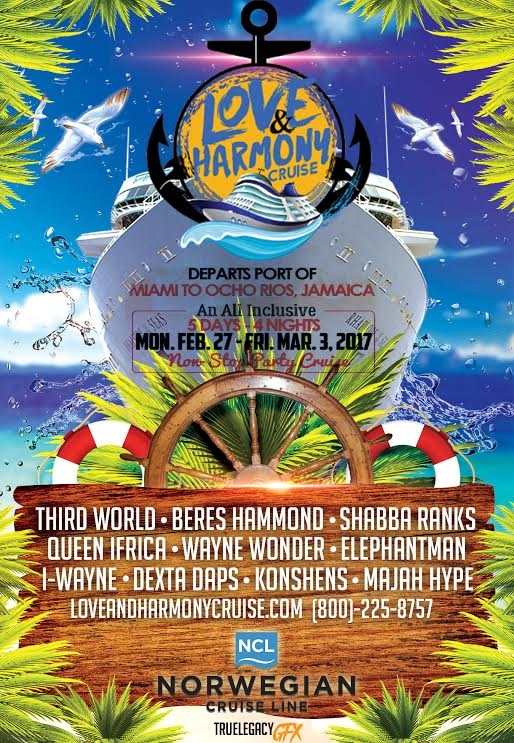 The Love And Harmony Cruise with Beres Hammond and friends sails