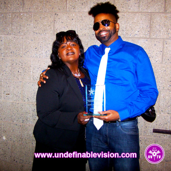 Kendra of Crossover TV and Tabou TMF of Undefinable Vision TV at the 2016 BETA Awards
