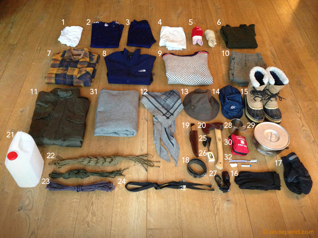 Bushcraft gear list: 3 days of winter camping in Denmark
