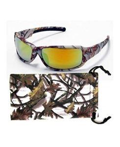 Camouflage Sunglasses Brown Orange White Camo Fishing Hunting