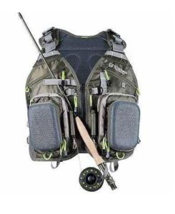 Elkton Outdoors Universal Fit Fly Fishing Vest Backpack