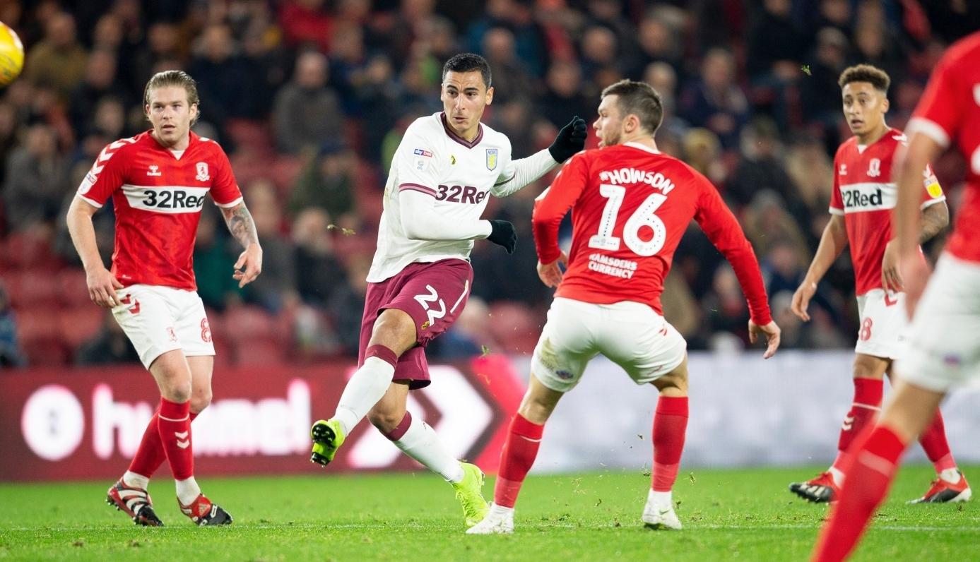 El Ghazi Aston Villa Middlesbrough