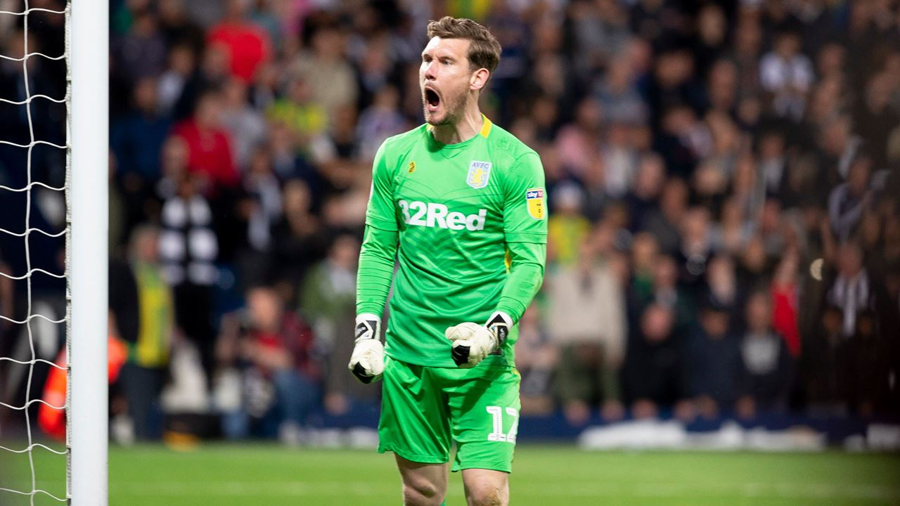 Jed Steer Celebrates Penalty Save