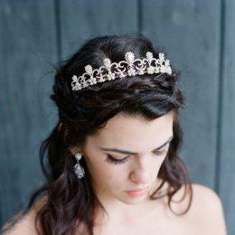 Bridal Tiara Crystal Tiara - HERMIONE