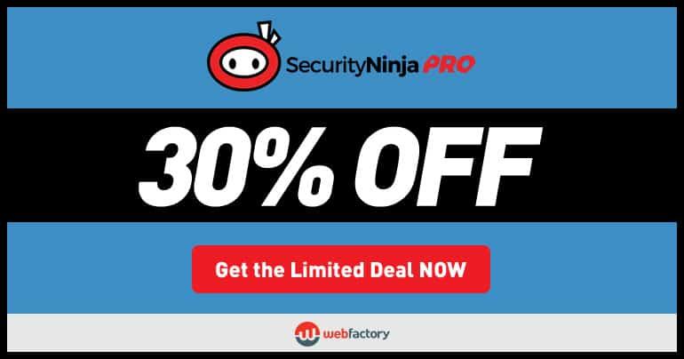 Security Ninja PRO Black Friday & Cyber Monday discount 2017