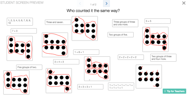 Making Desmos Elementary: A 1st Grade Card Sort - undercover