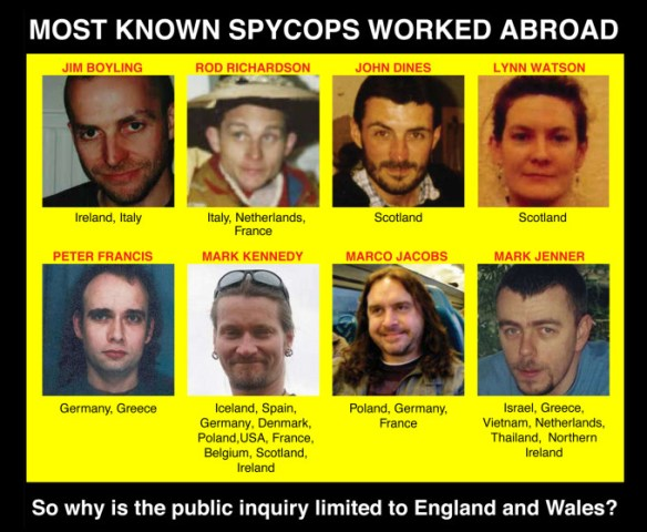 Most known spycops worked abroad