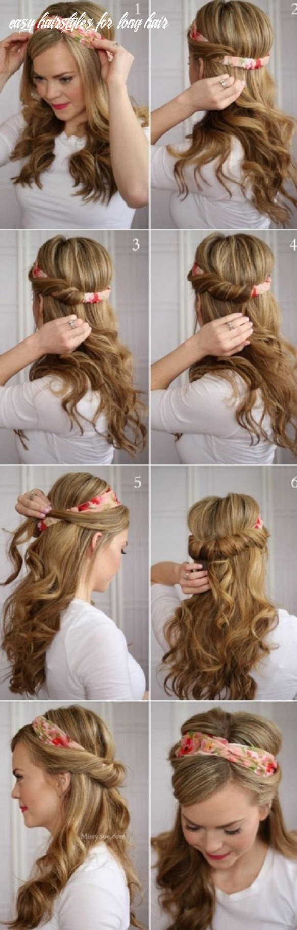 11 Easy Hairstyles for long hair   Cuded