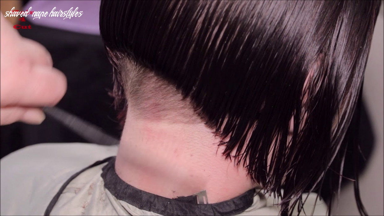 9-9 Katerina preview - long hair cut to bob with buzzed nape