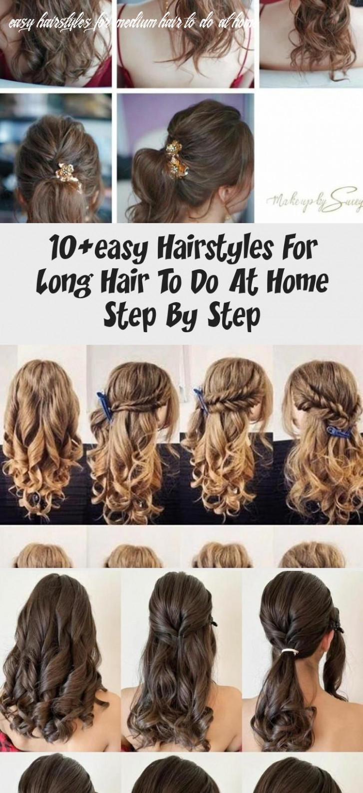9+easy Hairstyles For Long Hair To Do At Home Step By Step in ...