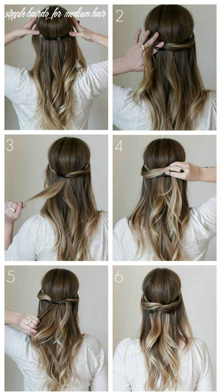 9 Simple Medium Hairstyles for Stunning Look - Haircuts ...