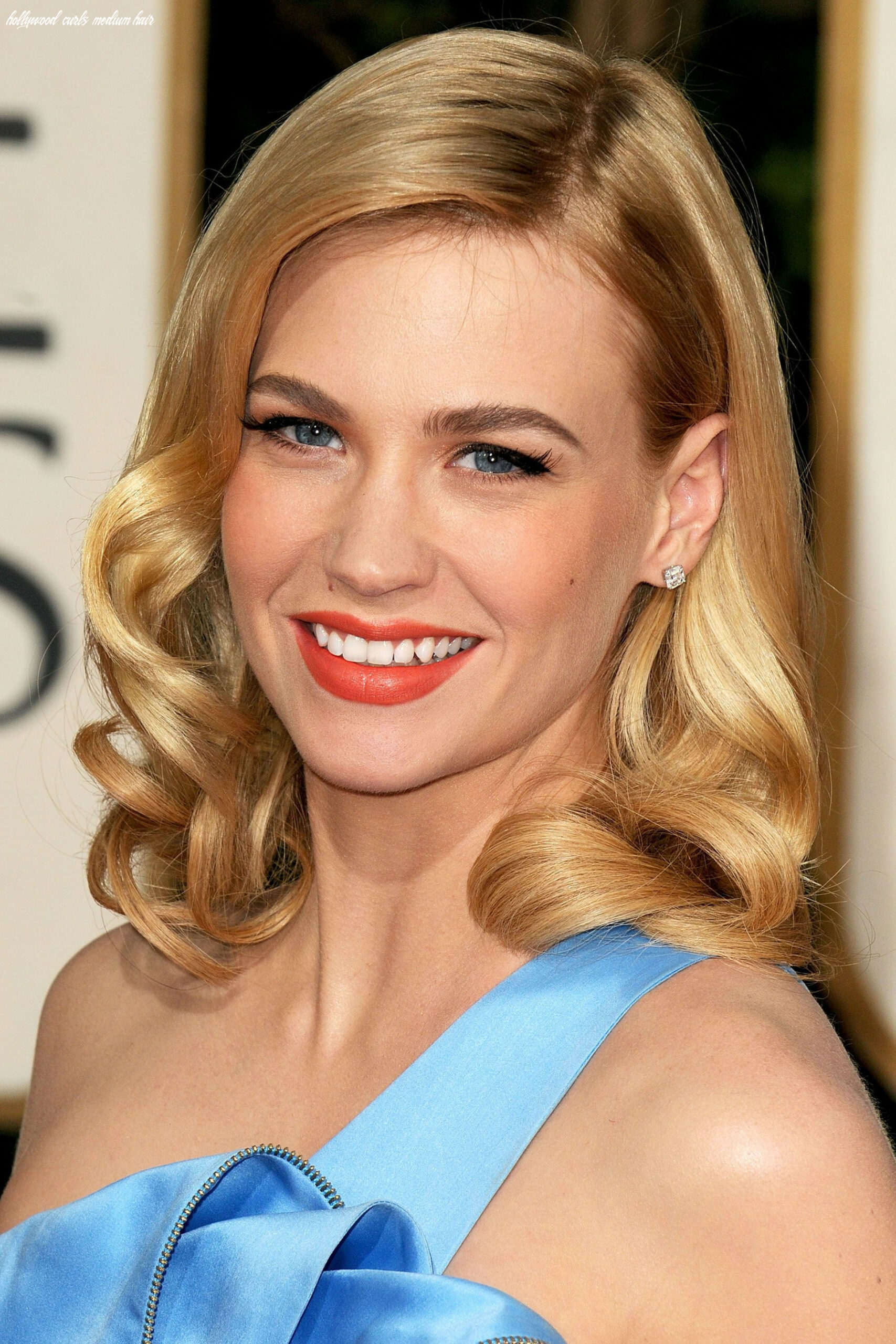 A-List Clientele: January Jones (With images)   Old hollywood hair ...
