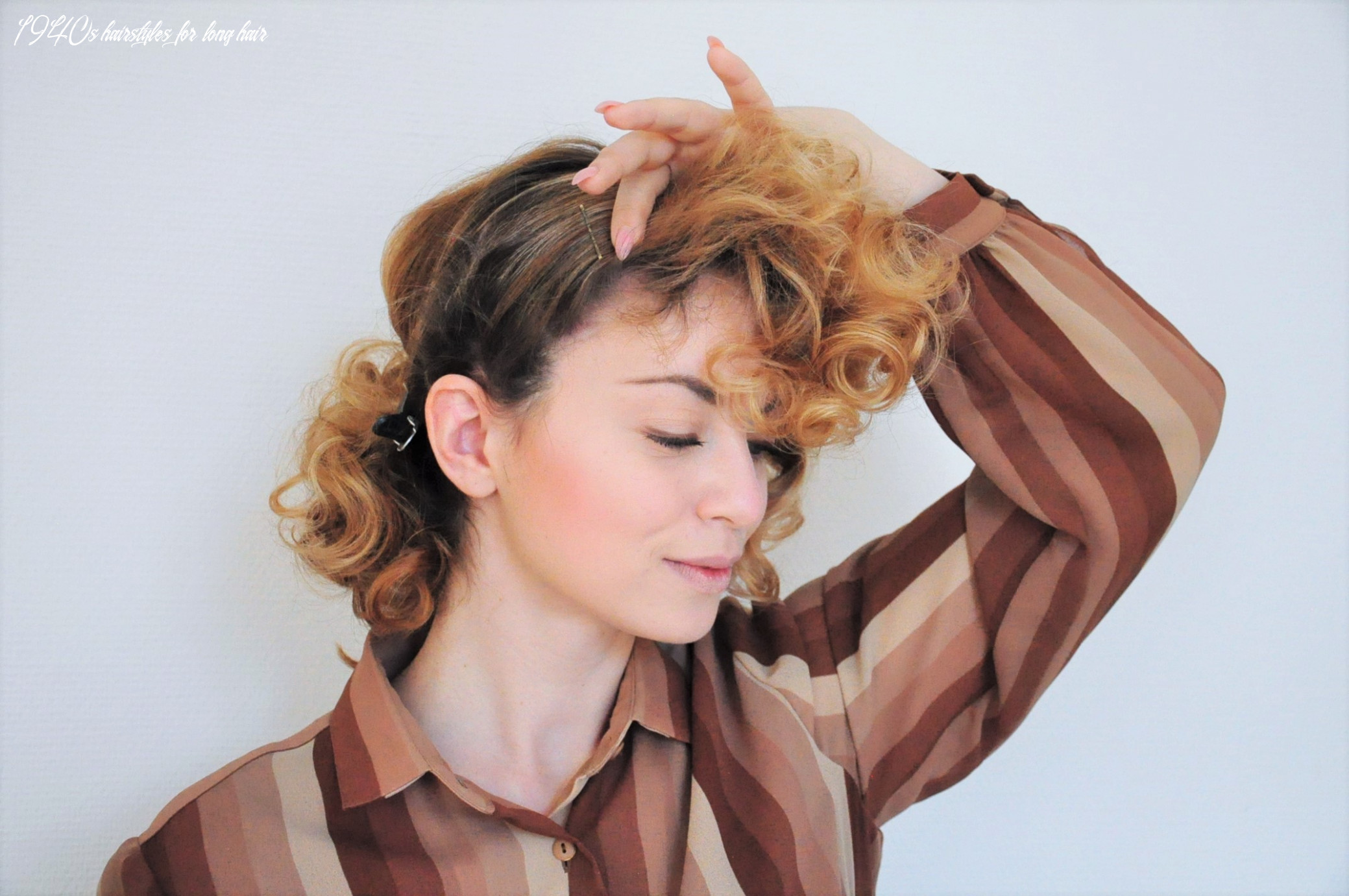 Curly 8s hair - Easy photo tutorial for a vintage 8s hairstyle