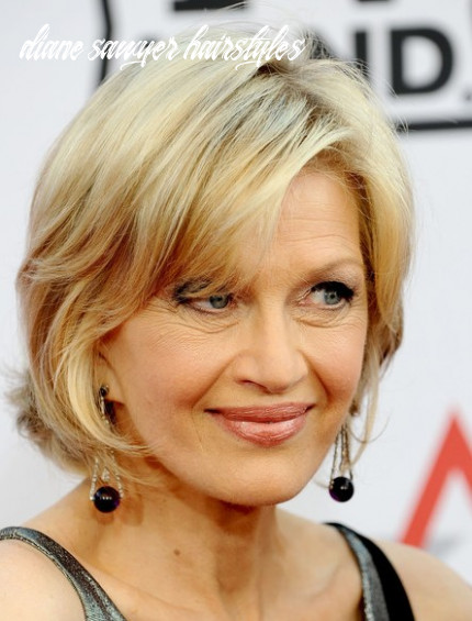 Diane Sawyer Chic Hairstyle with Bangs - Hairstyles Weekly