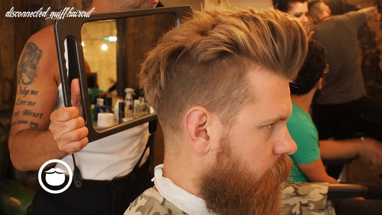 Getting a Natural Disconnected Quiff Hair Cut   Eric Bandholz