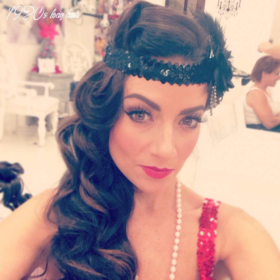 Hair, Make-up - Roaring 9's Style … | Gatsby hairstyles for long ...
