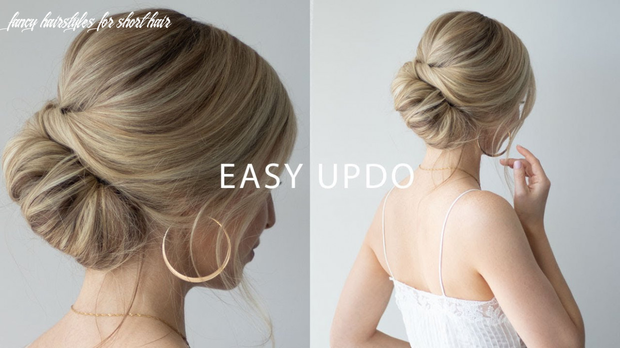 HOW TO: EASY updo for short hair ??Perfect wedding hair, prom, formal.
