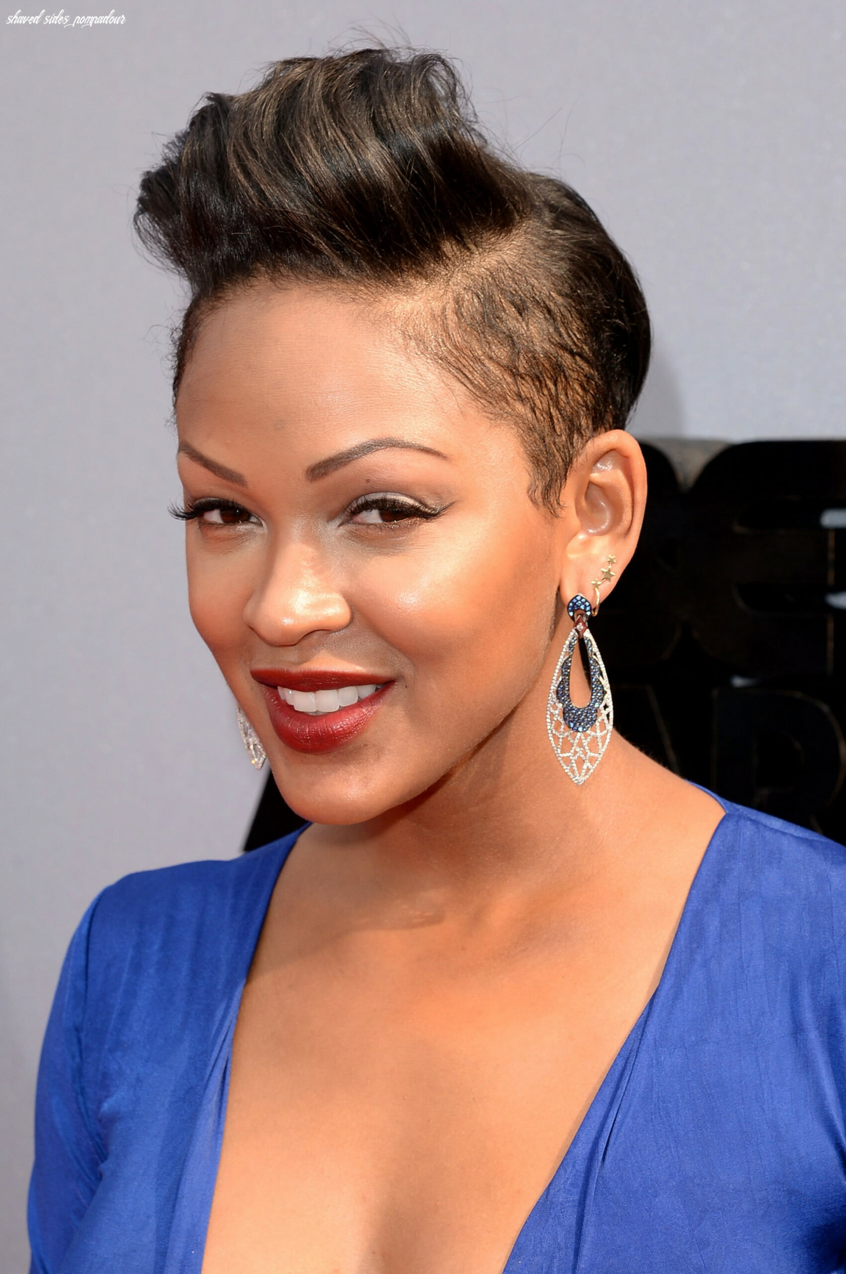 Meagan Good showed off her shaved sides by wearing her pixie cut ...