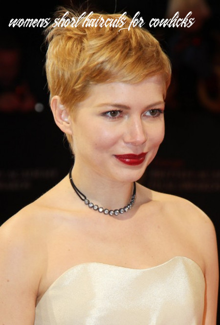 Michelle Williams Pixie with Cowlick - Hairstyles Weekly