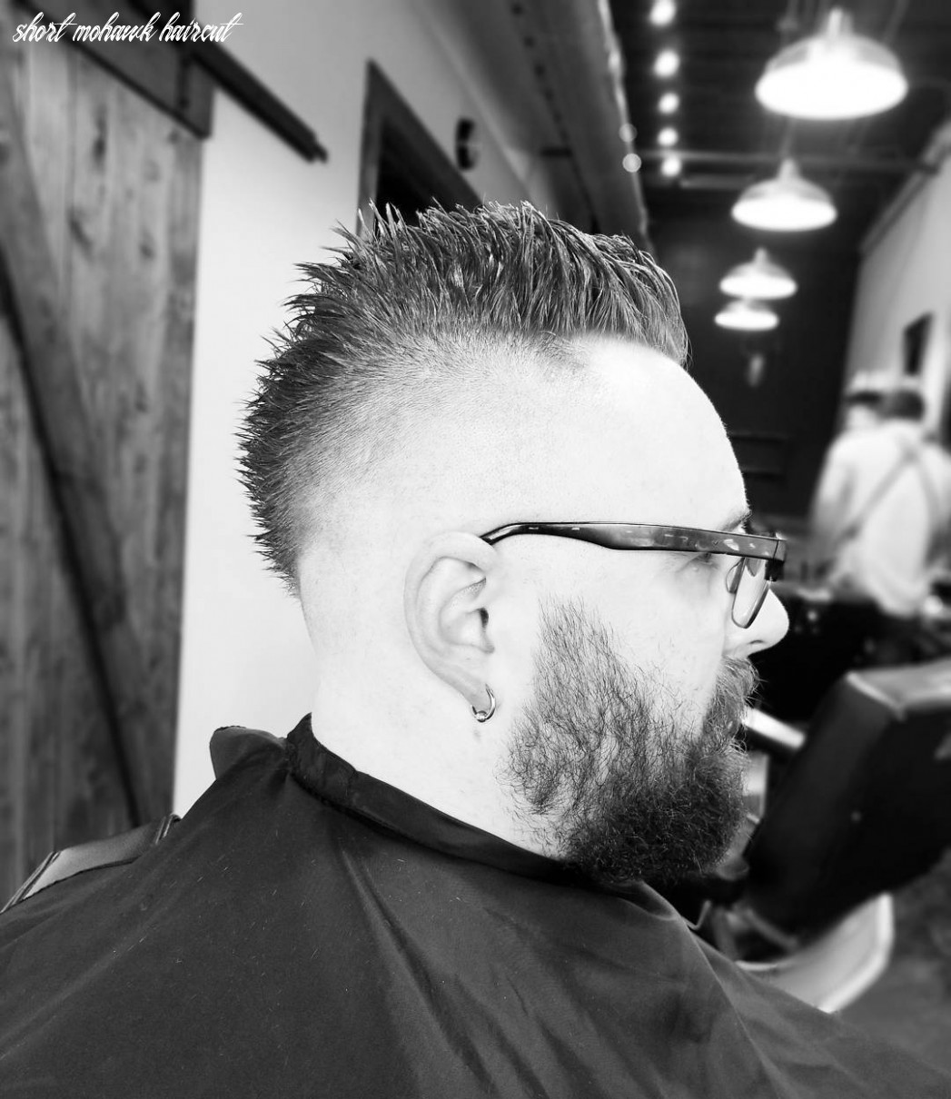 Picture Of a mohawk haircut for short hair is a cool version is ...
