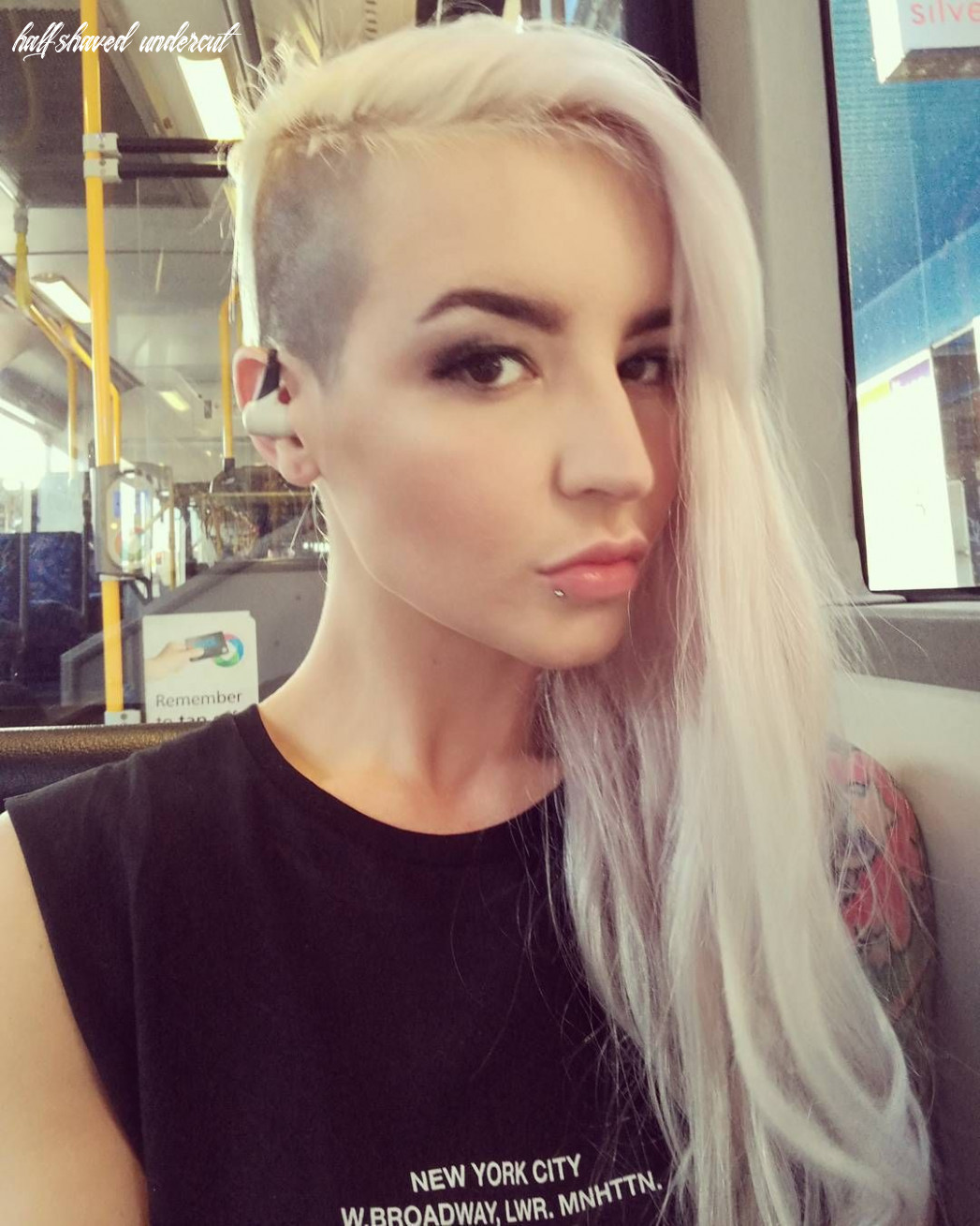 Pin by d k on half shaved hair   Shaved side hairstyles, Shaved ...