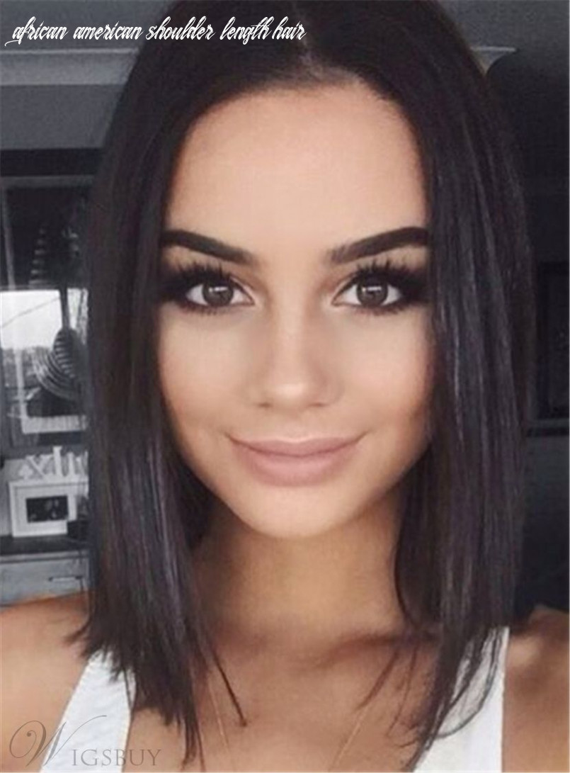 Straight Bob Hairstyle Shoulder Length Synthetic Lace Front ...