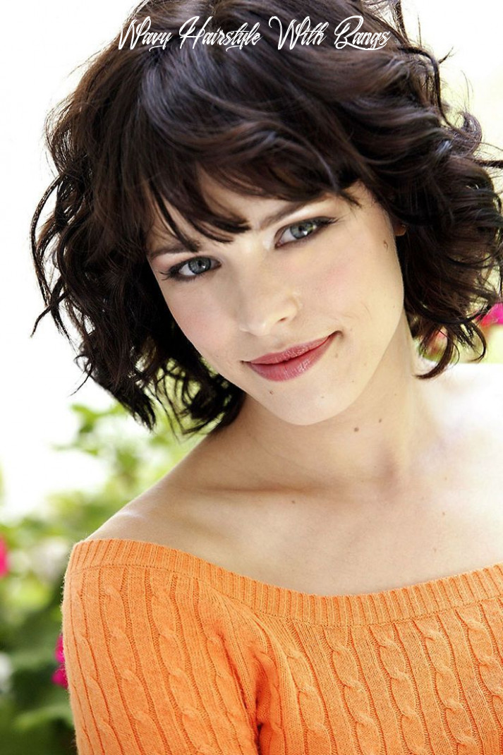 12 Cute Styles Featuring Curly Hair with Bangs | Short hair styles ...