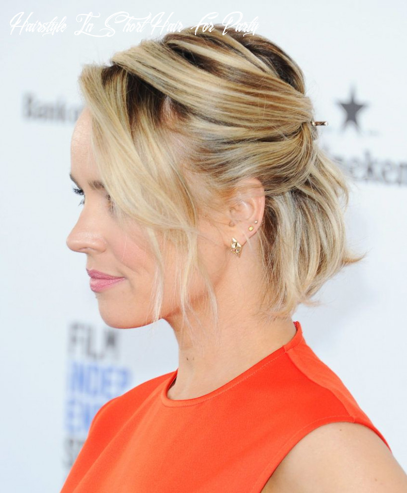 8 formal hairstyles for short hair to rock this party season