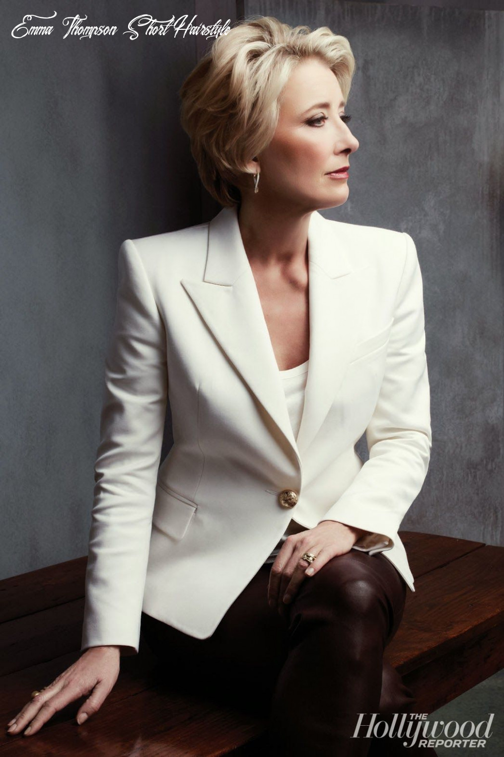 Emma Thompson (With images)   Short hairstyles for women, Short ...