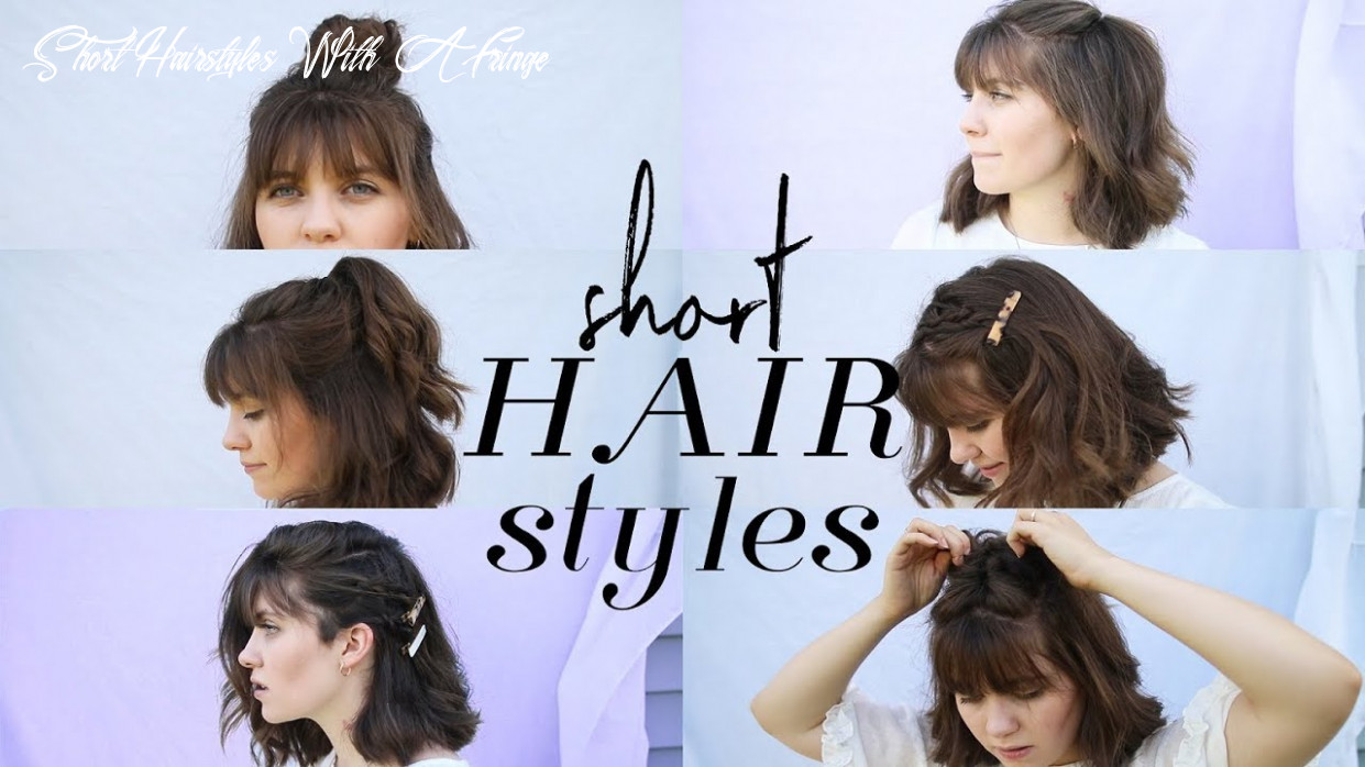 how to style short hair (+bangs)