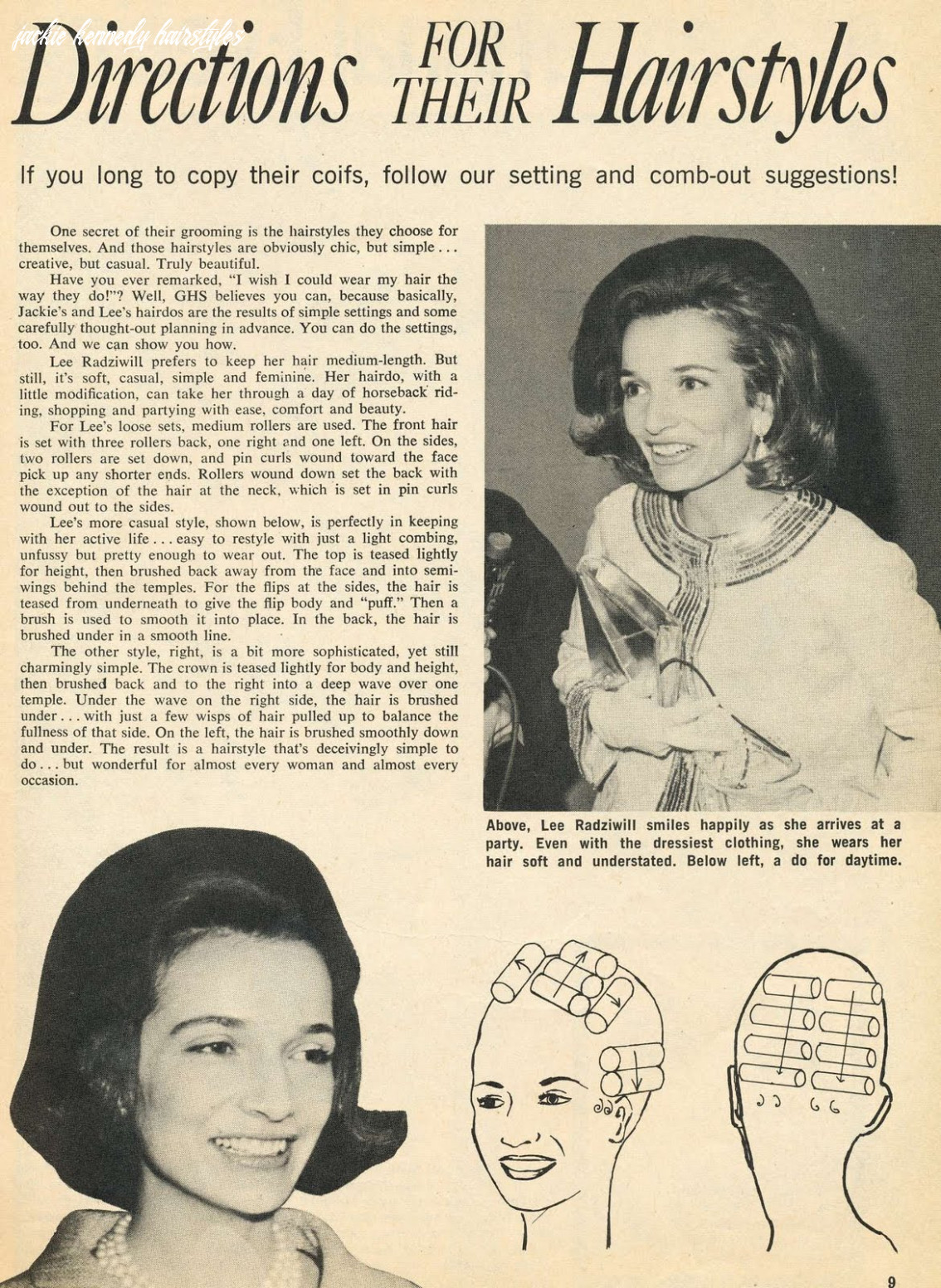 Incurlers: Jackie Kennedy's Hairdo How To