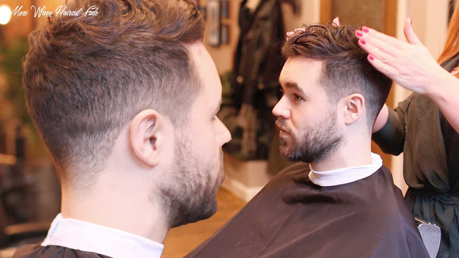 Men's Fade Haircut   For Curly Hair