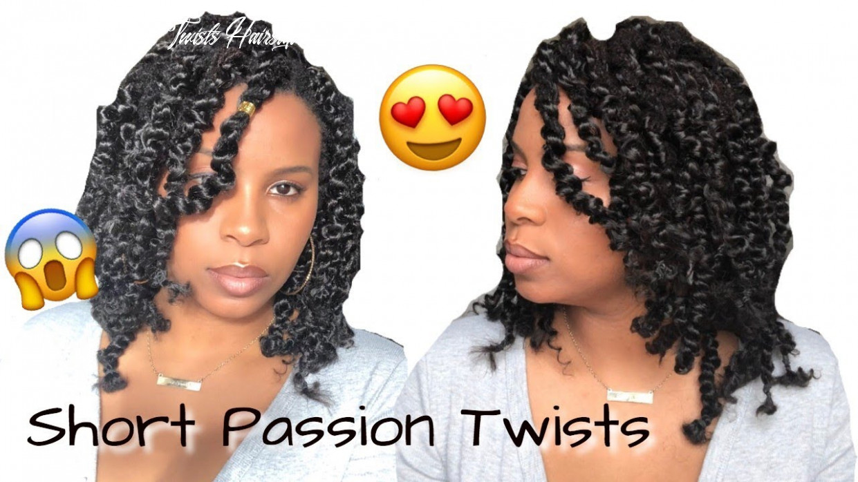 Short Passion Twists Over Locs   Rubber Band Method   Step-by Step Tutorial